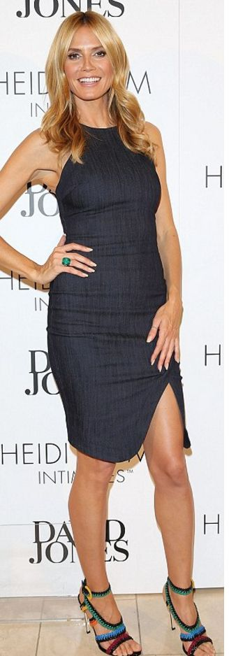 Who made  Heidi Klum's denim dress?