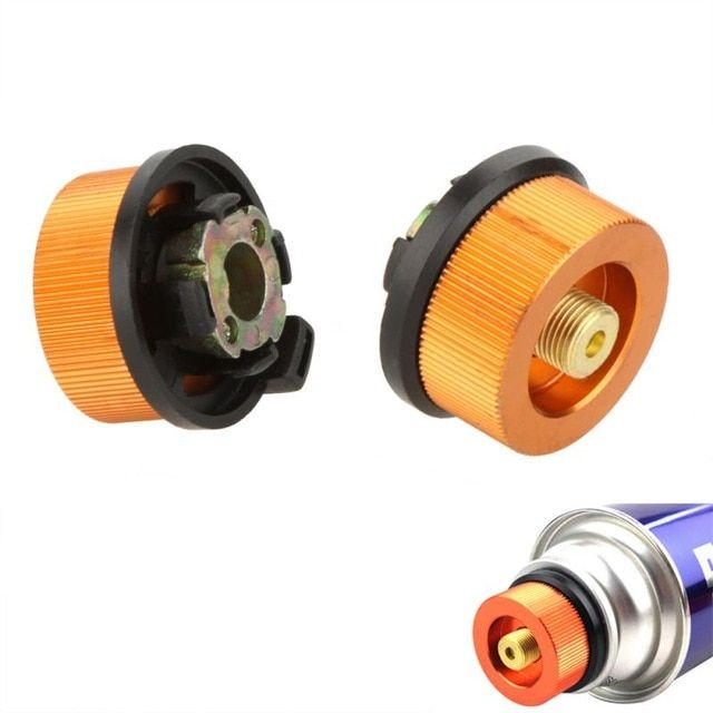 Gas Refill Adapter for Outdoor Camping Stove Cylinder Butane Canister DB