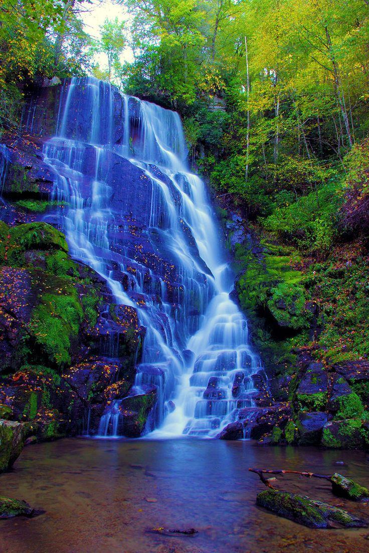 Eastatoe Falls in the North Carolina mountains