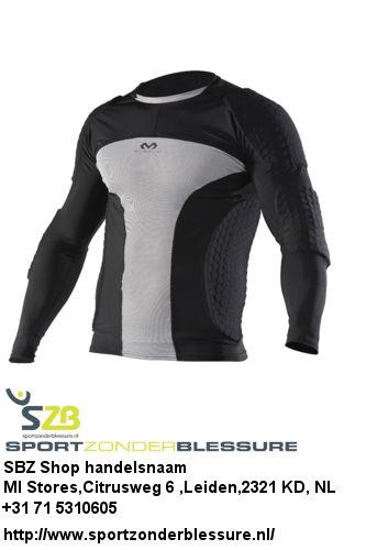 """Professioneel compressie shirt met lange mouwen met Hex™s aan ribben, armen en schouders. """"Stretched"""" en past zich aan het lichaam aan. Bovendien biedt dit shirt zodoende de ultieme, comfortabele bescherming. hDc™ zweetabsorberende eigenschappen.bezoeken op:http://www.sportzonderblessure.nl/mcdavid-hextm-long-sleeve-goalkeeper-shirt-7737.html"""