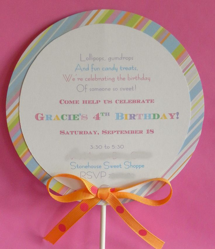 Even has her name: Adorable Invitations, Birthday Parties, Birthday Invitations, Candyland Birthday, Parties Ideas, Invitations Ideas, Parties Invitations, Parties Blog, Birthday Ideas