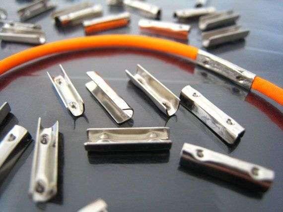 Finding 20 Pcs Silver Metal Fold Over Crimp Head Clips For Etsy