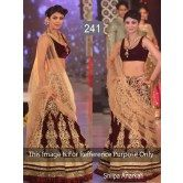shilpa-shetty-walks-the-ramp-in-maroon-lehenga-at-ibbs-fashion-show