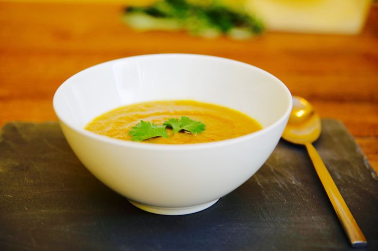 This hearty pumpkin soup contains a blend of spices including coriander, cumin, garlic and ginger, and also uses organic ghee as an alternative to oil. Try adding our Organic Sunflower Protein to give this soup an extra protein punch!