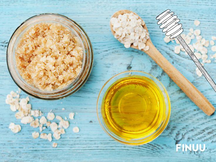 Miód i płatki owsiane to nie tylko zdrowe składniki na śniadanie. To również sposób na domowe SPA! :) #finuu #finlandia #finuupl #honey #oat #owies #owsianka #miod #spa #recipe #inspiracje#lifestyle