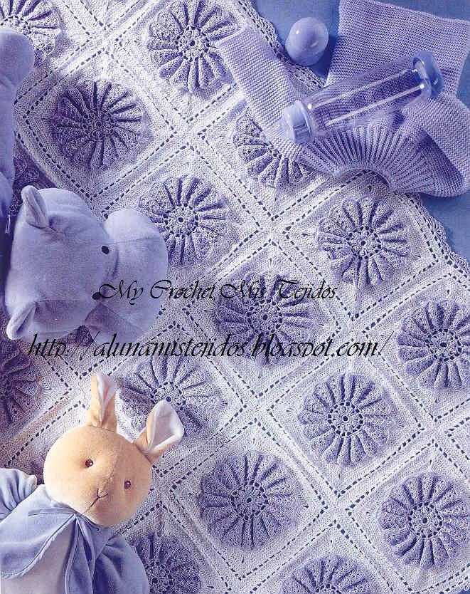 with tutorial: Pretty Patterns, Afghans, Preciosa Manta, Blanket, Squares, The Bebe, Crochet Baby Blankets, Pictures Tutorials, That Tejidos