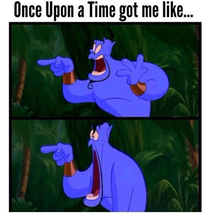 """OUAT got me like..."" Basically yeah !"