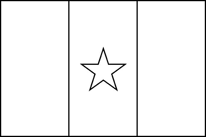 Flag Of Cameroon Coloring Page