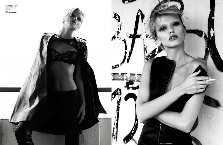 Sultry Lingerie Editorials : two tone