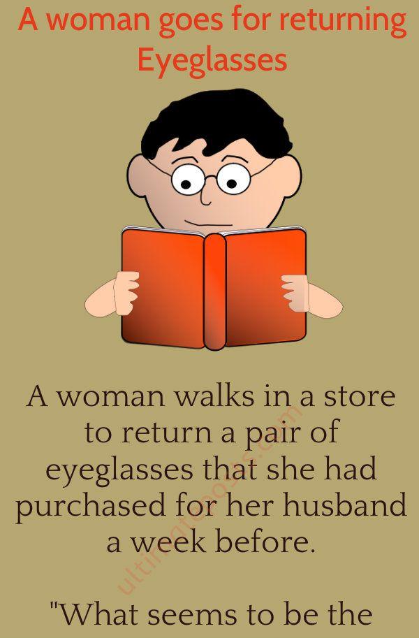 Woman Goes For Returning Eyeglasses Eyeglasses Skits Women