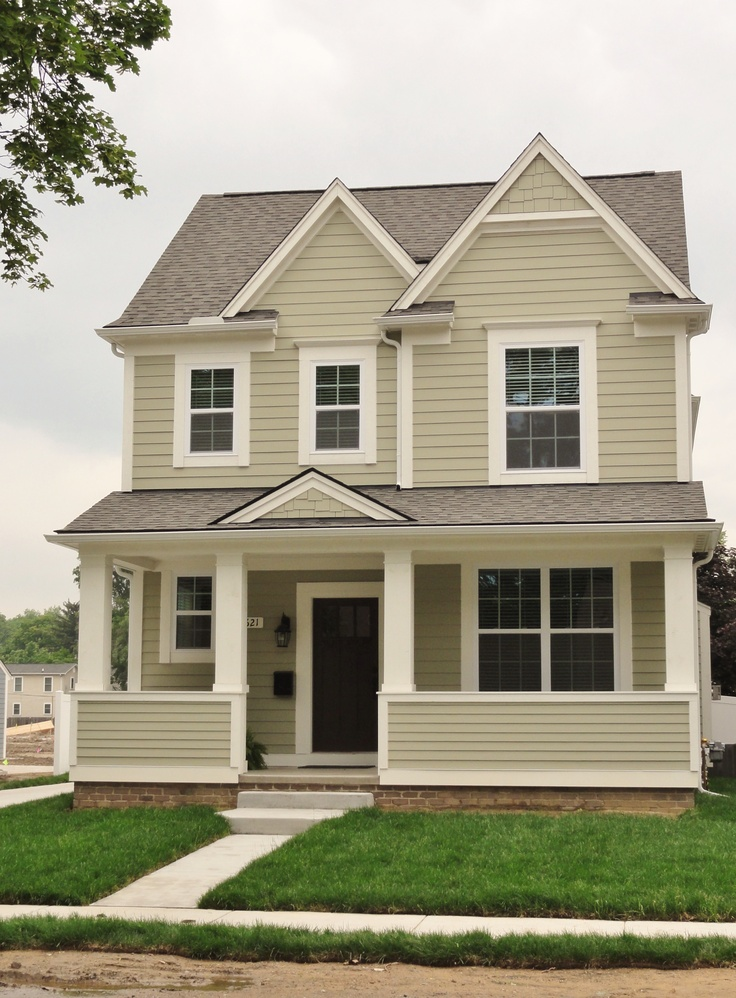 Madison home exterior in sage color package royal oak - Exterior house washing madison wi ...