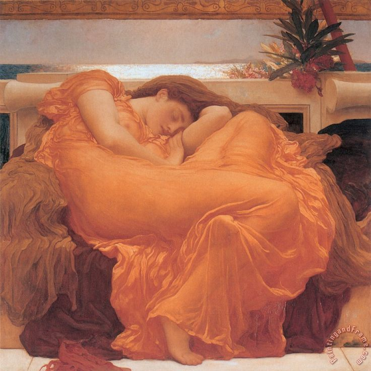Flaming June - 1895 Painting by Frederic Leighton