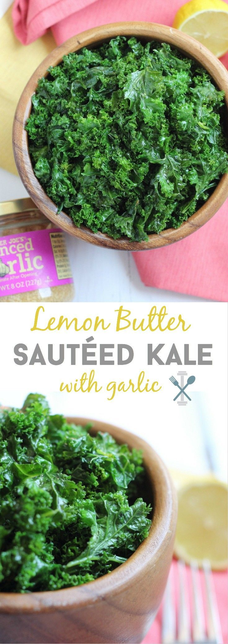 Whole30 compliant - this lemon 'butter' sautéed kale is easy to make and will…