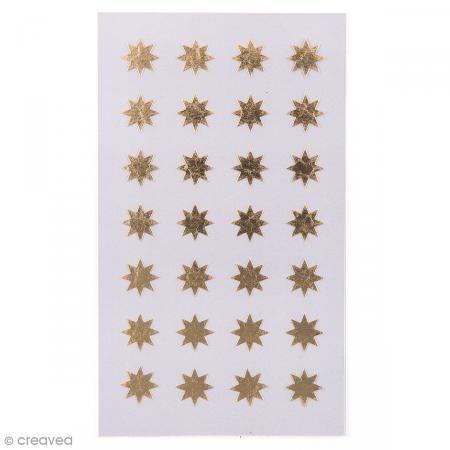 Pegatinas Estrellas doradas 12 mm - 112 pcs - Fotografía n°1