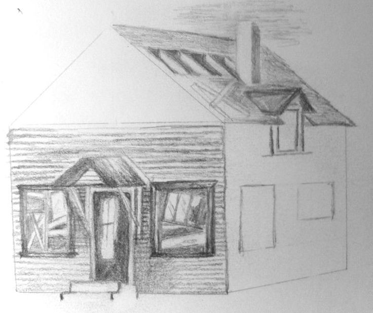 This is a photo of Tactueux Abandoned House Drawing