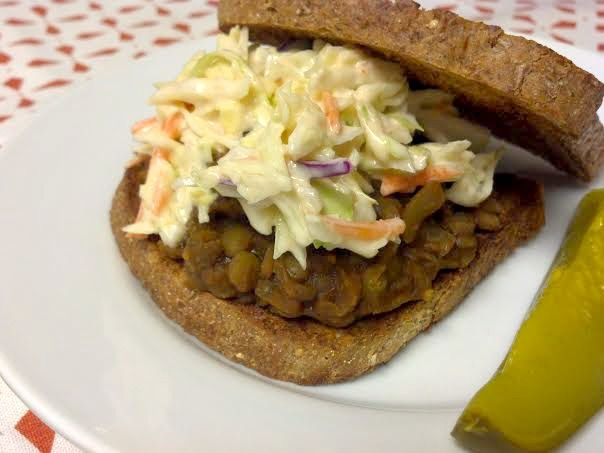 bbq lentil sandwich | Food - Try Soon | Pinterest