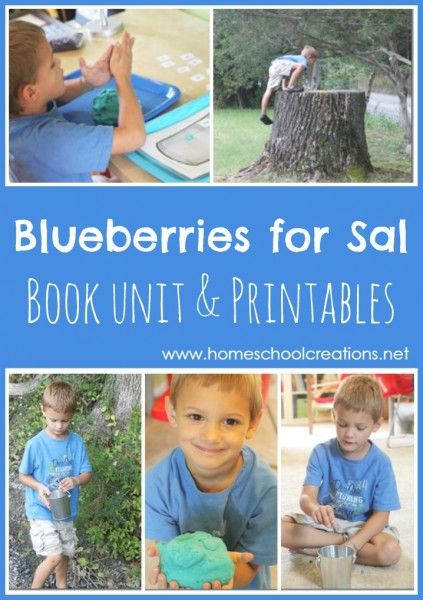 Blueberries for Sal book unit and printables from Homeschool Creations #bfiar