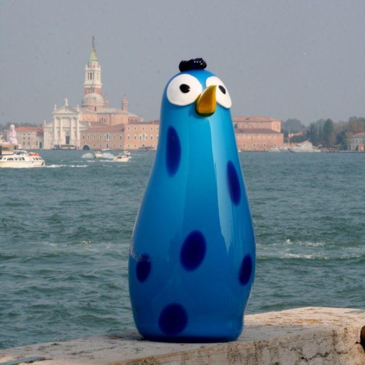 TIGRATTO - Murano glass penguin sculpture  #muranoglass #murano #sculpture #sculturevetro #muranosculpture #yourmurano