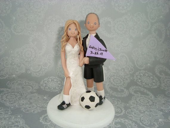 soccer player wedding cake toppers best 20 soccer wedding ideas on soccer 20273