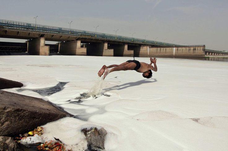 Contaminado- Río Yamuna- Nueva Delhi