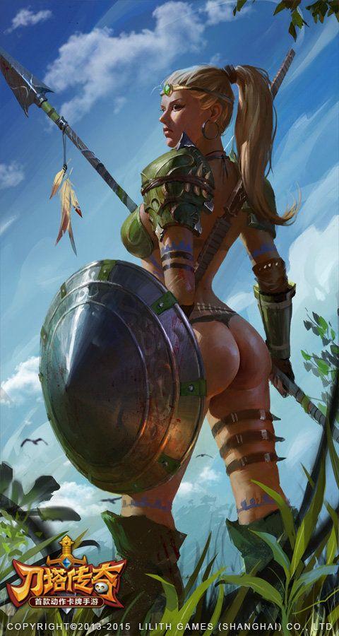 Female warrior, wei jiang on ArtStation at https://www.artstation.com/artwork/female-warrior-7d8e0542-913d-47ea-a515-9faa597d755f