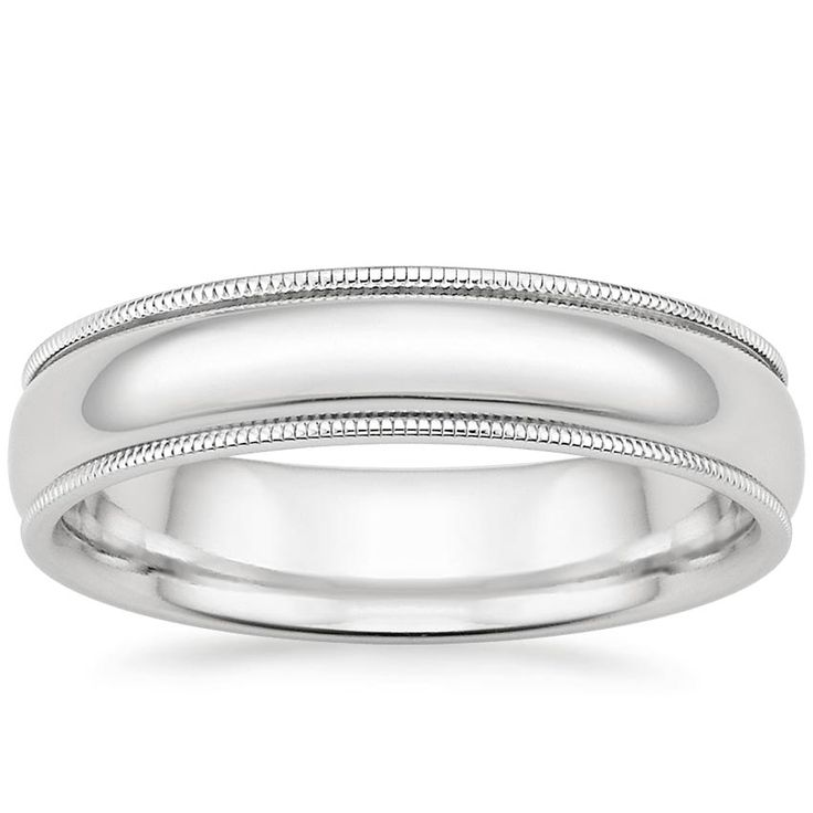 18K+White+Gold+5mm+Milgrain+Wedding+Ring+from+Brilliant+Earth