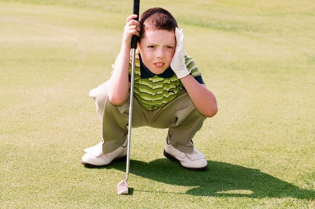 Rory McIlroy on his local golf course aged nine