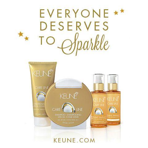 Everyone deserves to sparkle! #Keune #Keunehaircosmetics #Care Line #SatinOil #keune.com