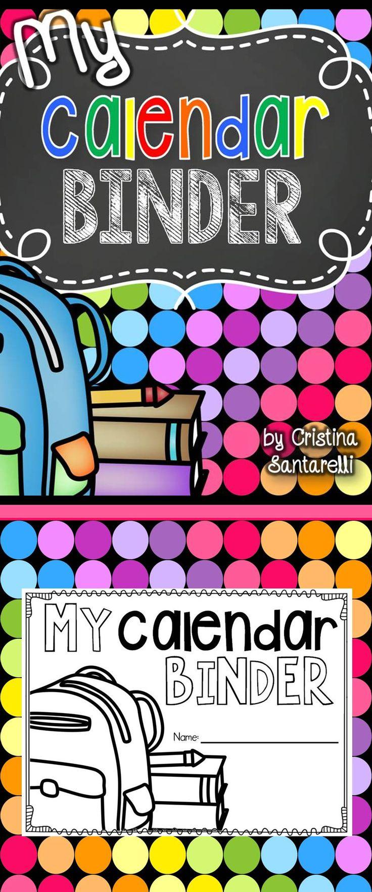 Interactive Student Calendar Binder!