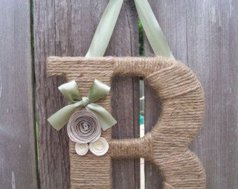 Twine wrapped letter by LayMazingCreations on Etsy