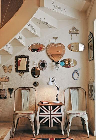 decorando o espaço embaixo da escada: Mirror Mirror, Home Decor Ideas, Interiors Design, Da Escada, Small Rooms, Under Stairs, Jack O'Connel, Rooms Decor, Union Jack