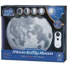 Lampara aplique Moon in my room, pilas incluidas, funciones desde control remoto
