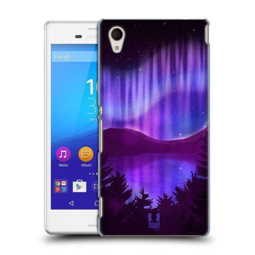 Pouzdro na mobil Sony Xperia M4 Aqua E2303 HEAD CASE Polární Záře Nad Jezerem