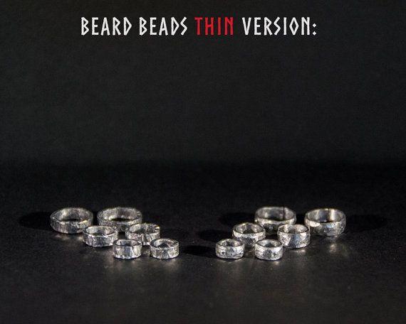 Beard beads. Thin version. Raw metal beard rings. by TheWayfairyer