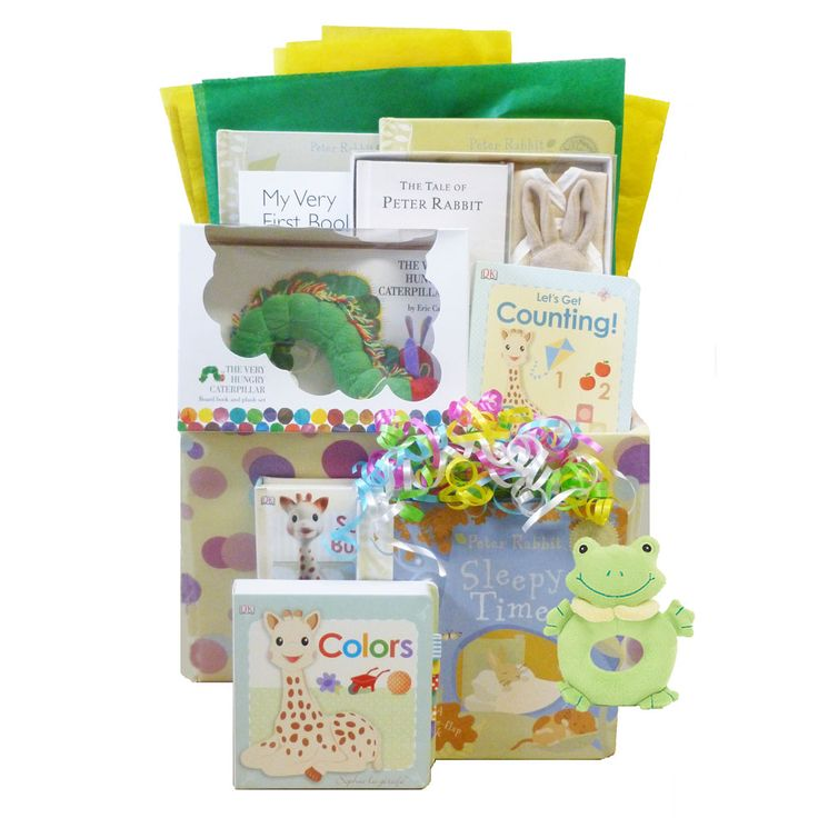 Baby Gifts For Gender Neutral : Deluxe baby s first library gender neutral gifts