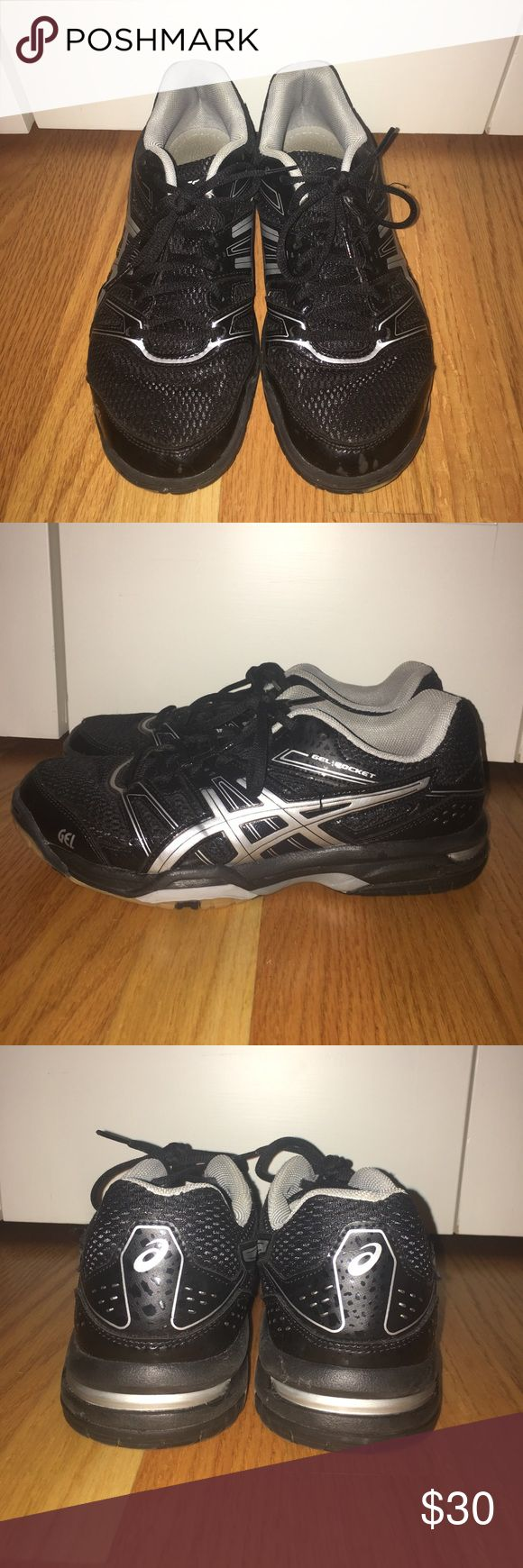 Black Asics Volleyball Court Shoes Black and gray Asics volleyball/court shoes. Asics Shoes Sneakers