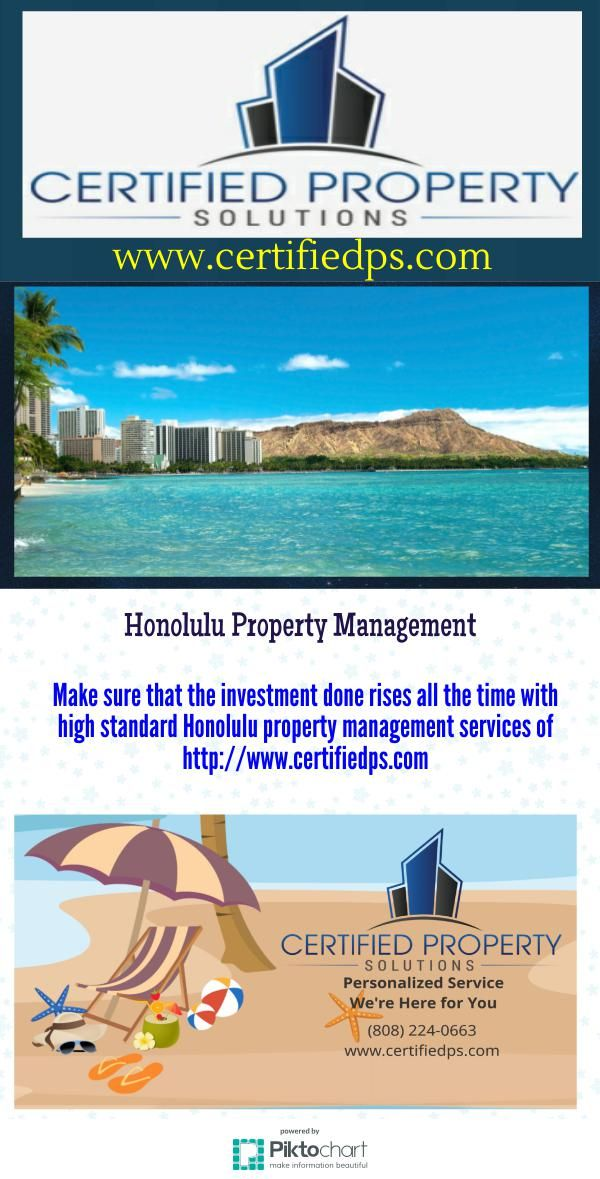 Make Sure That The Investment Done Rises All The Time With High Standard Honolulu Property Management Services Of H Property Management Management Oahu Rentals