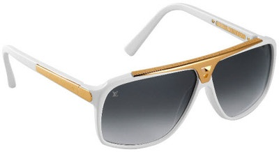 Louis Vuitton Evidence Sunglasses White !!!