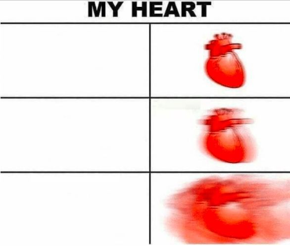 Heart Beating With Meme Creator Com The Simple And Fast Meme Creator Add Custom Text And Images No Watermark High Qual Meme Template Create Memes Beat Memes
