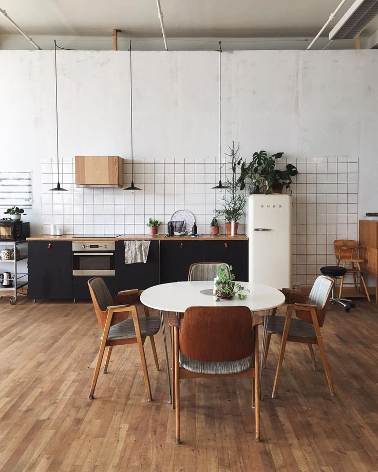 Industrial feel kitchen with plants
