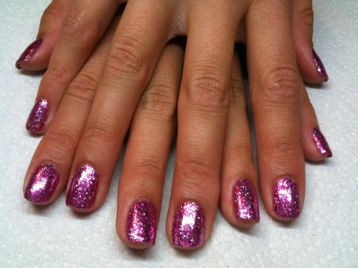 Shellac Rock Star Finger Nails Pink! ♥