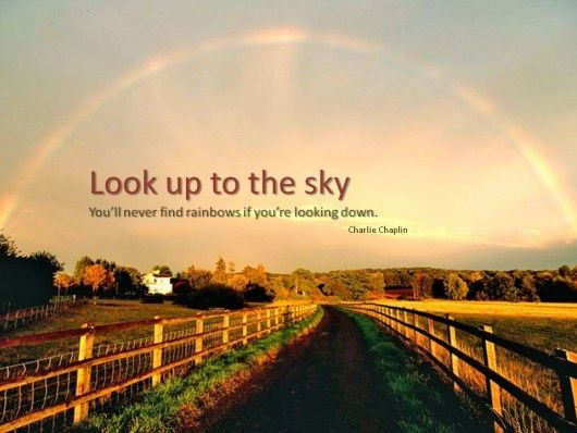 Look up to the sky! #Quote #Life: