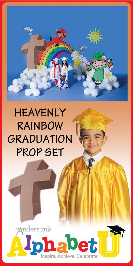 Heavenly Rainbow Graduation Prop Set - Kindergarten and Preschool Graduation