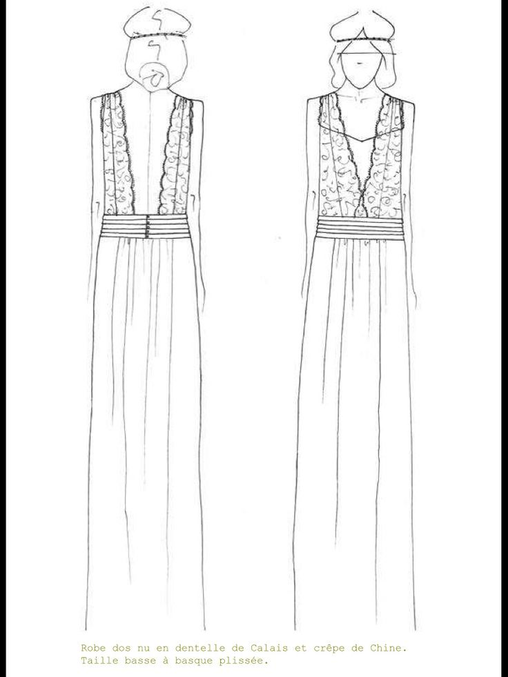 A sketch of the beautiful Chaplin dress by Laure De Sagazan