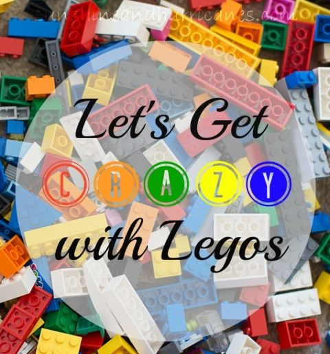 Let's Get Crazy with Legos - Lego Challenge Game & Lego Themed Snacks. Activities for Lego Camp, Rainy Day Fun or Homeschooling Curriculum. Free printables.