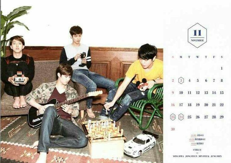 CNBLUE Calendar 2014 November