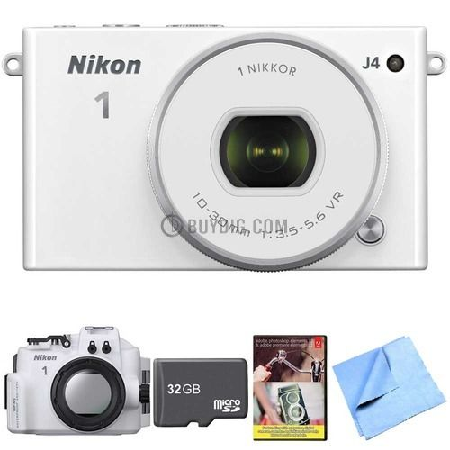 Nikon 1 J4 with 10-30 lens WP-N3 underwater case Adobe Photoshop Elements 12 for $399