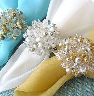Mom loved beautiful napkin rings for her fabric napkins