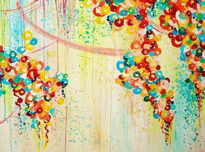 SUMMER IN BLOOM Fine Art Print Decorative High by EbiEmporium, $28.00 Vibrant Rainbow Colors, Abstract Acrylic Painting, Textural Abstract Fine Art, Original Painting Commission Image, Summer Florals, Nature Theme, Flowers, Colorful Artwork, Home Decor, Wall Art, Beautiful Feminine Art, Whimsical, Cheerful, Trendy, Bold Colors, Dripping Paint, Textured Painting Dorm Room Style