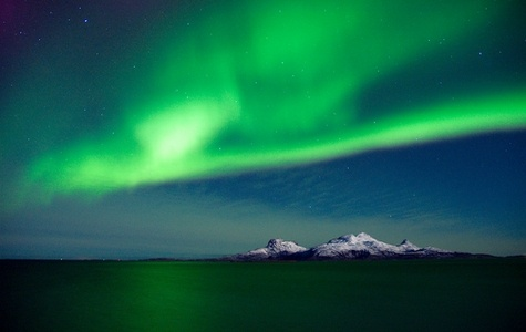 Nordlys/Northern lights over Landegode (Photo: Kent Even Grundstad) - Kent Even Grundstad